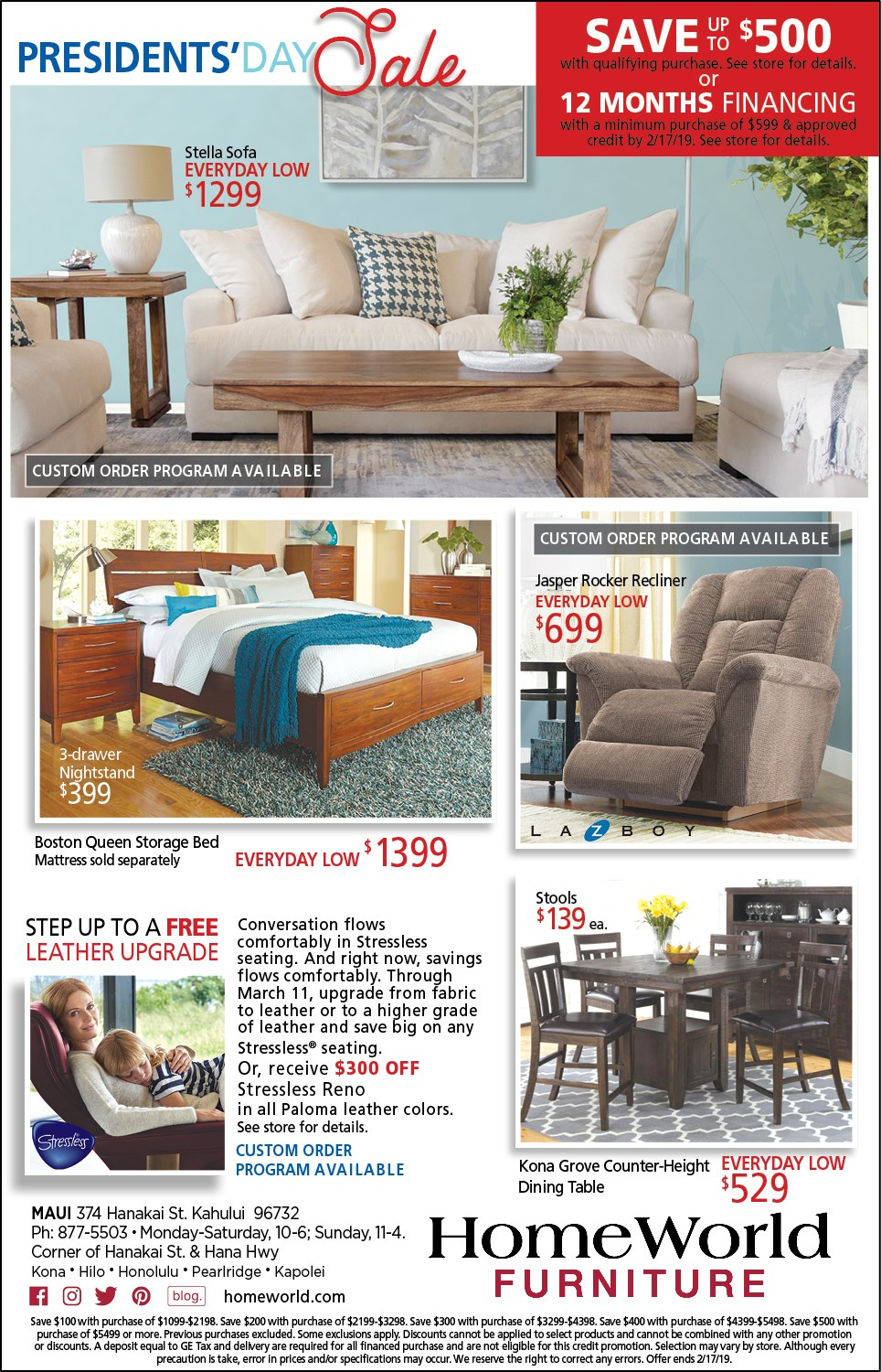 Clearance Center Aiea Hawaii 96701 Furniture Store