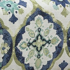 Dark Blue Printed Fabric 902622
