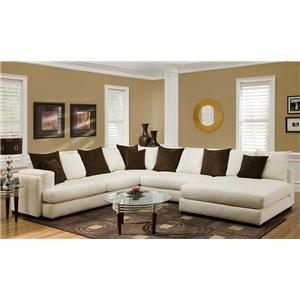 880 Sectional Sofa With Right Side Chaise By Albany