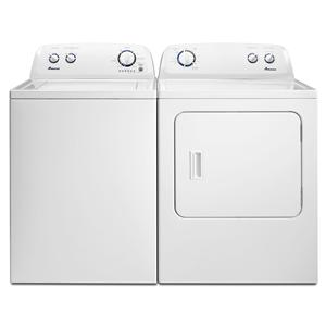 washer and dryer sets 34 cu ft topload washer and 70 cu ft electric dryer with energy preferred cycle by amana