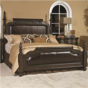 Casalone California King Poster Bed With Upholstered Headboard And  Footboard By American Drew