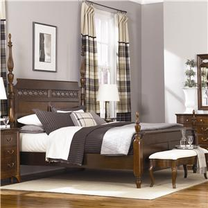 Beautiful Cherry Grove Queen Poster Bed With Carved Detail By American Drew