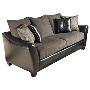 3200 Group Transitional Sofa With Contemporary Lines And Traditional Design  By American Furniture