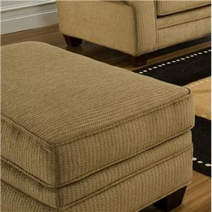 3700 Upholstered Ottoman With Tapered Block Legs By American Furniture
