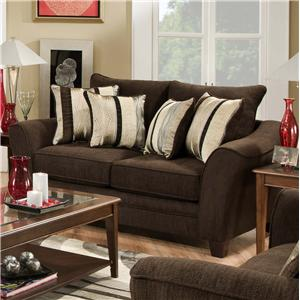 3850 Elegant Loveseat With Contemporary Style By American Furniture