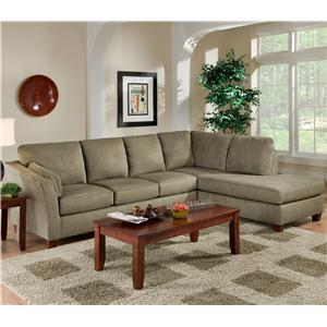 Charming L Shaped Upholstered Stationary Sectional