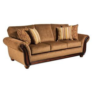 5650 Sofa With Wood Face On Arms By American Furniture