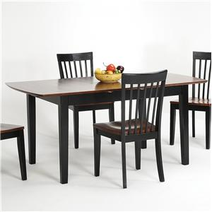 Newbury And Kensington Contemporary Dining Sets Solid Hardwood Butterfly Leaf Table By Amesbury Chair