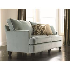Custom Upholstery   Townhouse Customizable Queen Sleeper With Track Arms  And Tapered Legs By Bassett