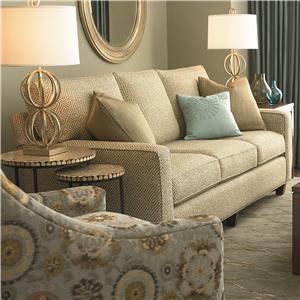 Custom Upholstery - Townhouse Customizable Queen Sleeper with Track Arms and Full Front by Bassett : bassett sectional sofas - Sectionals, Sofas & Couches