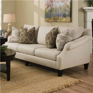 Molly Transitional French Sofa With Sloping Rolled Arms By Bauhaus