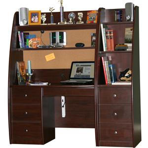 Enterprise Youth Desk And Hutch With Storage Pier By Berg