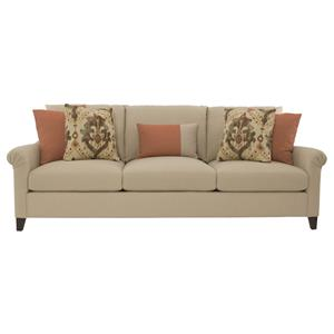 Sherman Sofa With Pleated Arms By Bernhardt
