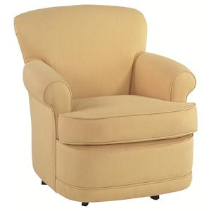Traditional Upholstered Swivel Chair