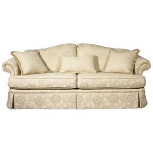 7575 Camel Back Sofa With Accent Pillows And Traditional Furniture Skirt By  Brentwood Classics