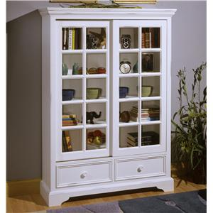 Beautiful Office 101 2 Panel Sliding Door Bookcase By Brownwood Furniture