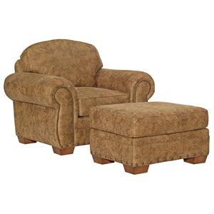 Casual Style Chair and Ottoman