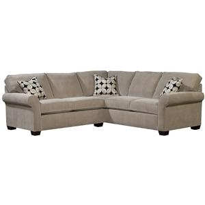 Two Piece Sectional with RAF Sleeper