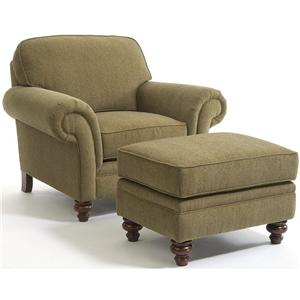 Stationary Chair and Ottoman