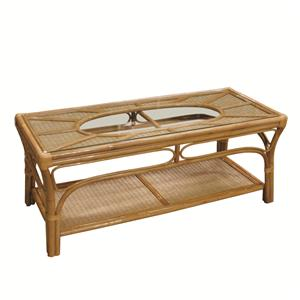 381 collection wicker rattan framed glass top cocktail table by capris furniture