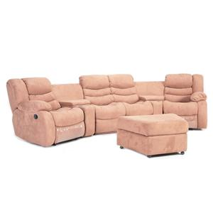 83M Home Theater Home Theater Sectional With Ottoman By Cheers Sofa