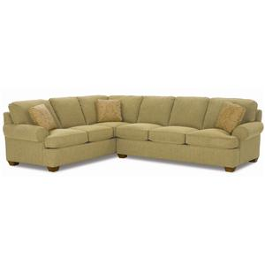 17189 2 Piece Sofa Sectional With Exposed Wood Feet By Clayton Marcus