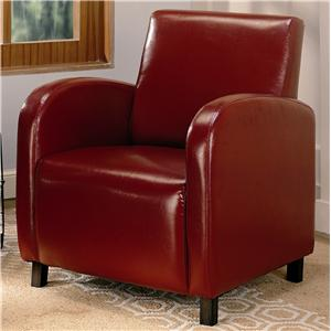 Accent Seating Vinyl Upholstered Arm Chair By Coaster