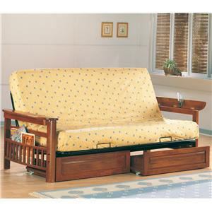 Futon Frame and Drawer Set with Mattress