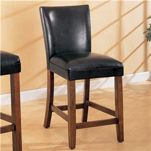 Telegraph 24 Faux Leather Bar Stool By Coaster