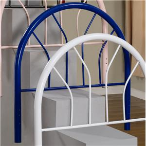 Twin Blue Metal Headboard