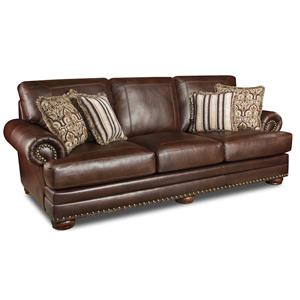 Delightful 9010 Stationary Sofa With Nailhead Trim By Corinthian
