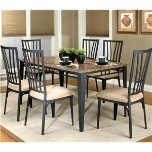 Cramco Trading Company   Lingo Rectangular Table W/ 7 Side Chairs By  Cramco, Inc