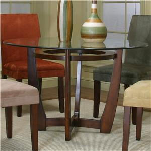 Contemporary Design   Parkwood Round Dining Table With Cherry Wood Base By  Cramco, Inc