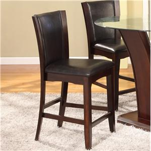 Camelia Espresso Counter Height Stool With Upholstered Seat By Crown Mark