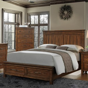 Cassidy King Panel Bed With Storage Drawers By Crown Mark