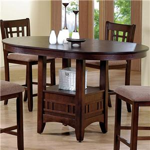 Empire Counter Height Dining Table With Pedestal Base By Crown Mark