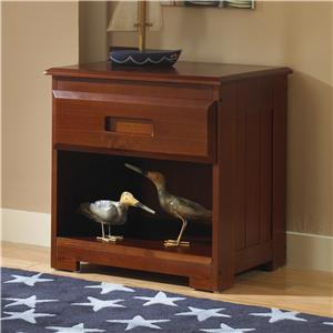 merlot nightstand with 1 drawer by discovery world furniture
