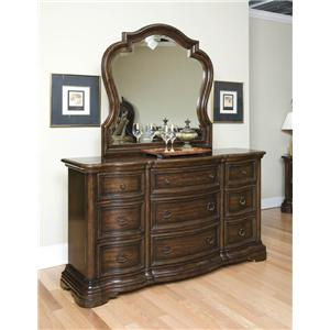 Palermo Traditional 9 Drawer Dresser And Mirror By Endura Furniture