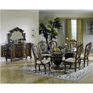 Repertoire Double Pedestal Drum Table U0026 Chair Set By Fairmont Designs