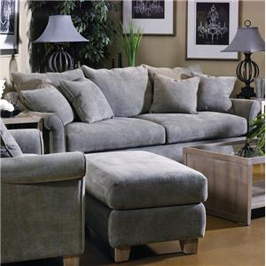 Perfect Malibu Stationary Sofa W/ Rolled Arms By Fairmont Seating