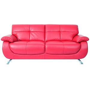 Mesa Contemporary Cherry Faux Leather Sofa By Fine Home Ltd