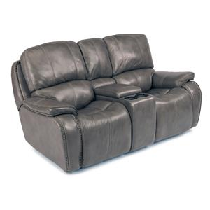Latitudes MacKay Power Reclining Loveseat With Storage And Light Up  Cupholder Console By Flexsteel