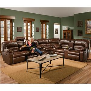 3 Piece Reclining Sectional  sc 1 st  Barebones Furniture : franklin sectional sofa - Sectionals, Sofas & Couches