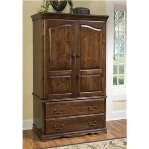 Furniture Traditions At Barebones Furniture. Alder Hill Armoire With 2  Bottom Drawers By Furniture Traditions