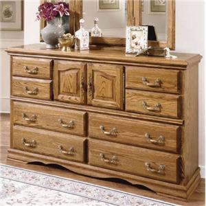 Master Piece 10 Drawer And 2 Door Dresser With Locking Jewelry Drawer By  Furniture Traditions