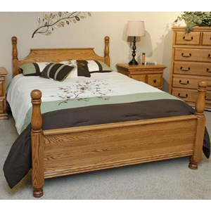 Exceptionnel Master Piece Solid Wood Oak King American 4 Poster Bed By Furniture  Traditions