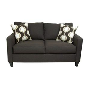 Superior Kinsley Contemporary Style Stationary Loveseat With Bold Accent Pillows By Gomen  Furniture
