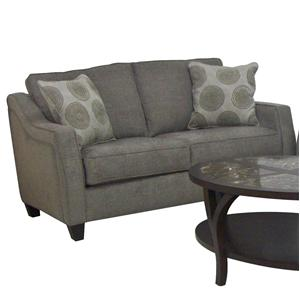 Nicole Contemporary Loveseat With Accent Pillows By Gomen Furniture