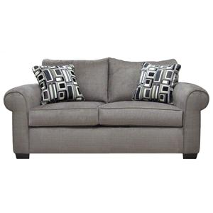 Platinum Casual Loveseat With Two Seat Construction By Gomen Furniture