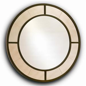 Artistry Nona Round Metal Frame Mirror By Harden Furniture